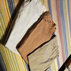 Lot of 3 , Mens 38x34 cargo pants.  Excellent cond